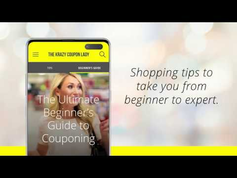 video review of Krazy Coupon Lady: Deals, Savings & Coupons