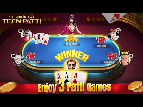 video review of Teen Patti Comfun-Indian 3 Patti Card Game Online