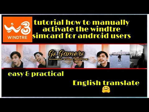 tutorial how to activate mobile data, windtre sim card manually (for android)