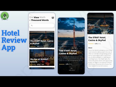 Hotel Booking App Android With XML & JAVA Source Code    Trip Planner App    Android Studio Tutorial