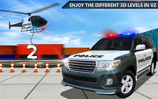 Police Jeep Spooky Stunt Parking 3D 2 screenshot 11