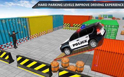 Police Jeep Spooky Stunt Parking 3D 2 screenshot 4