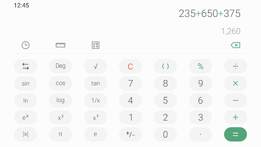 Samsung Calculator screenshot 3