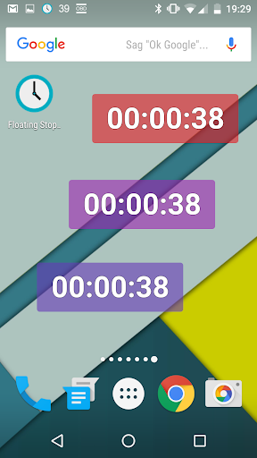 Floating Stopwatch screenshot 2