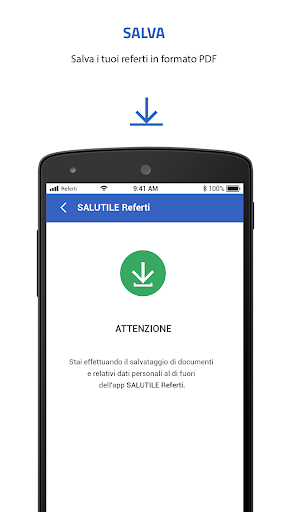 SALUTILE Referti screenshot 4