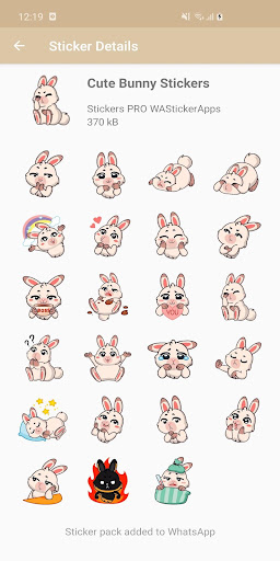 New Funny Rabbit Stickers WAStickerApps 2020 screenshot 5