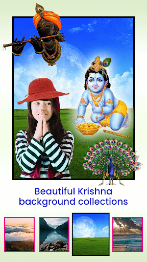 Krishna Photo Editor with Text screenshot 3