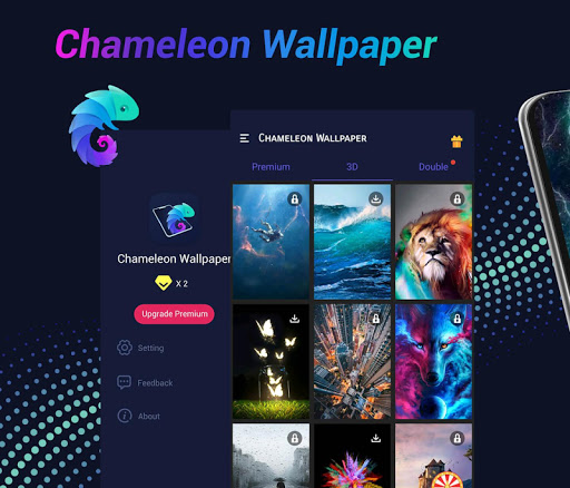 Chameleon Wallpaper: 3D Wallpaper Background screenshot 1