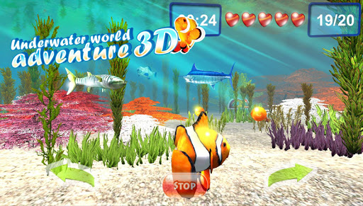 Underwater world. Adventure 3D screenshot 1