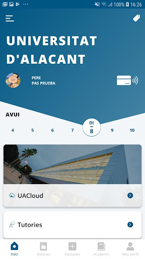 appUA, Universitat d'Alacant screenshot 2