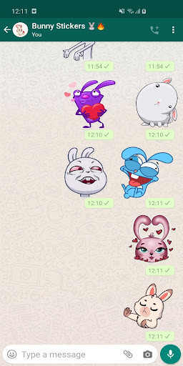 New Funny Rabbit Stickers WAStickerApps 2020 screenshot 1