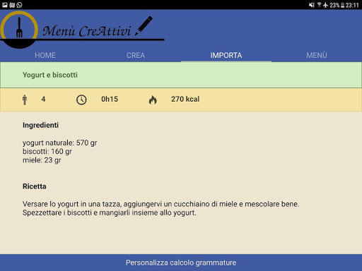 Menù CreAttivi screenshot 12