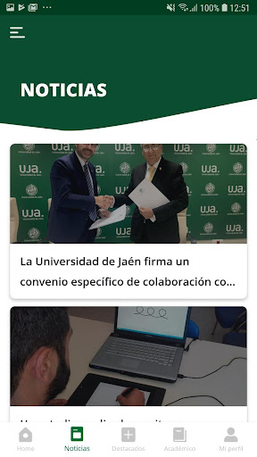 La App oficial de la Universidad de Jaén screenshot 6