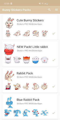 New Funny Rabbit Stickers WAStickerApps 2020 screenshot 4