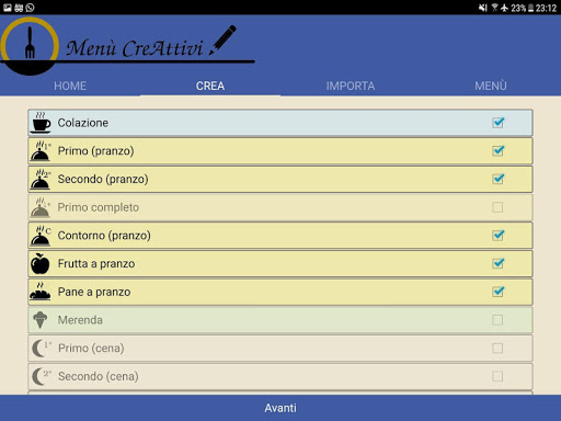 Menù CreAttivi screenshot 15