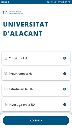 appUA, Universitat d'Alacant screenshot 1