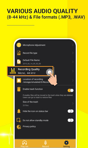 Voice Recorder Editor High Quality Sound Recording screenshot 3