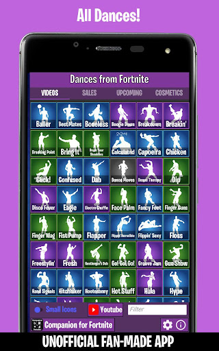 Dances from Fortnite (Emotes, Shop, Wallpapers) screenshot 1