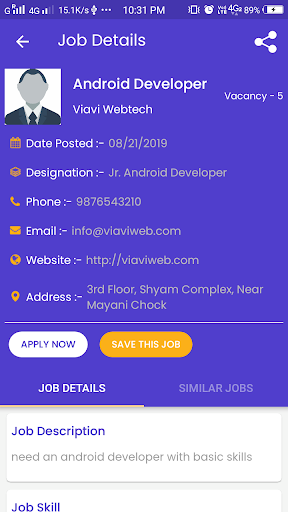 latest jobs for all screenshot 2