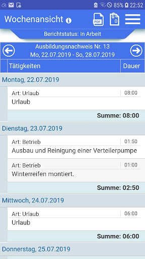 Azubiheft APP screenshot 4