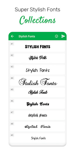 Stylish Fonts screenshot 2