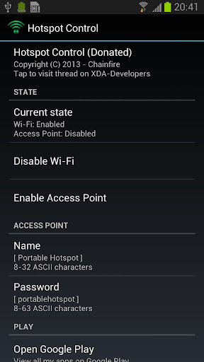 Hotspot Control screenshot 1