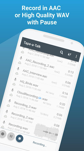 Tape a Talk Voice Recorder screenshot 1