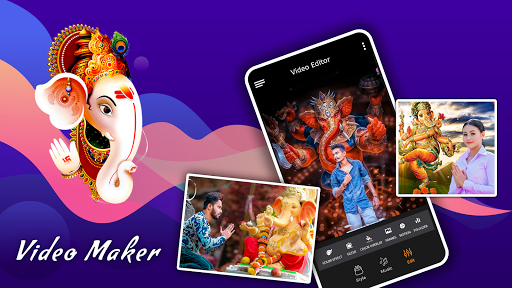 Ganesh video maker with song screenshot 1