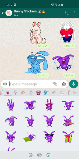 New Funny Rabbit Stickers WAStickerApps 2020 screenshot 2