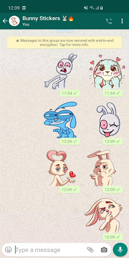 New Funny Rabbit Stickers WAStickerApps 2020 screenshot 3