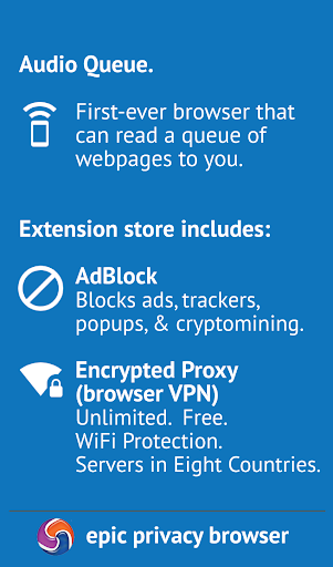 Epic Privacy Browser with AdBlock, Vault, Free VPN screenshot 2