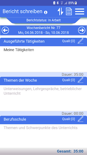 Azubiheft APP screenshot 5