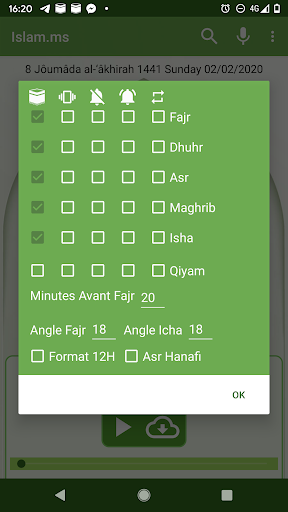 Islam.ms Prayer Times Qibla finder Locator Compass screenshot 4