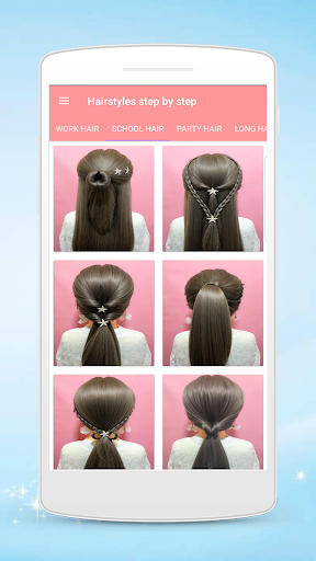 Hairstyles step by step for girls screenshot 4