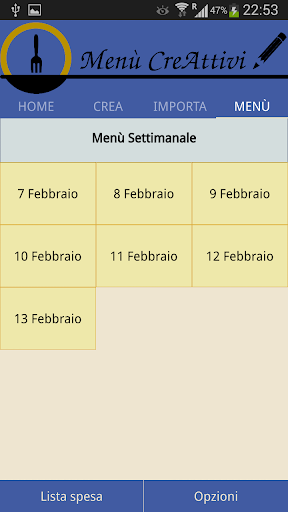 Menù CreAttivi screenshot 5