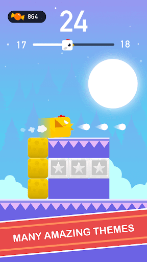 Square Bird - Tower Egg screenshot 4