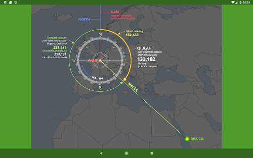 Islam.ms Prayer Times Qibla finder Locator Compass screenshot 15