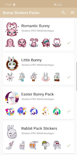 New Funny Rabbit Stickers WAStickerApps 2020 screenshot 6