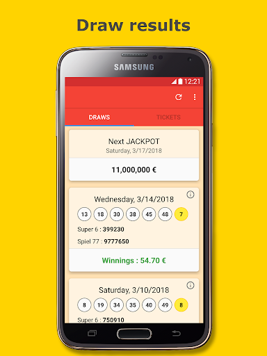 Results for Lotto 6 aus 49 Germany screenshot 1