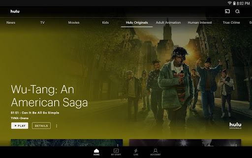 Hulu for Android TV screenshot 1