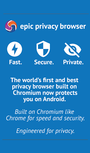 Epic Privacy Browser with AdBlock, Vault, Free VPN screenshot 1