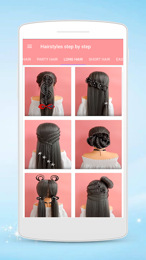 Hairstyles step by step for girls screenshot 1