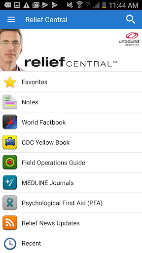 Relief Central screenshot 1