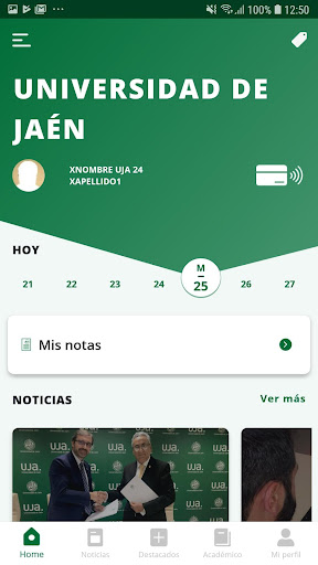 La App oficial de la Universidad de Jaén screenshot 2